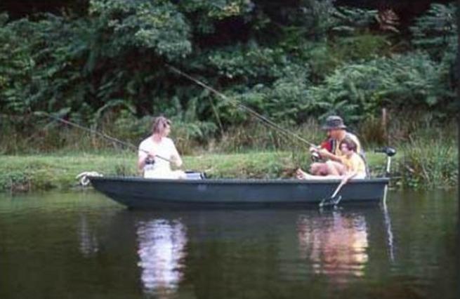 Enjoying a Herbert Woods fishing boat