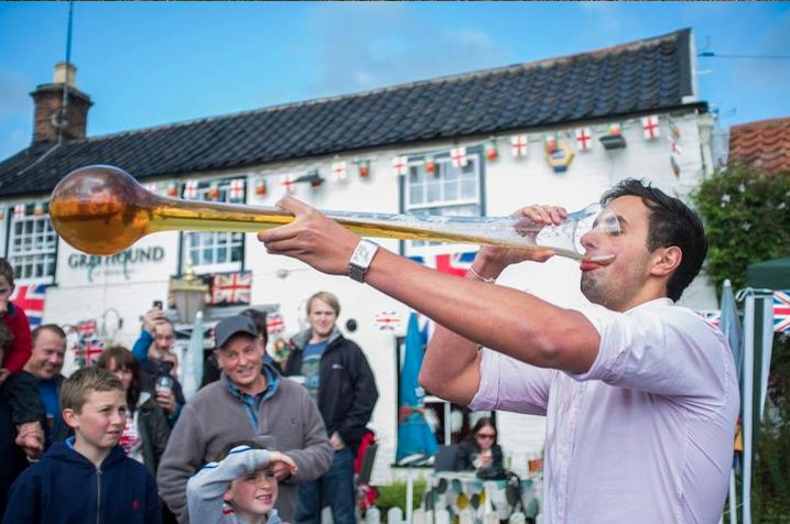 Drink a yard of ale at The Greyhound Inn