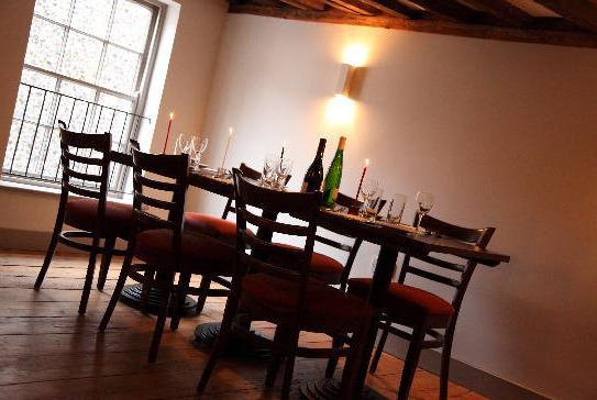 Restaurants tables within the Iron House in Norwich