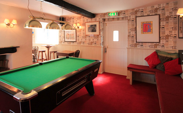 Pool table at The Loddon Swan