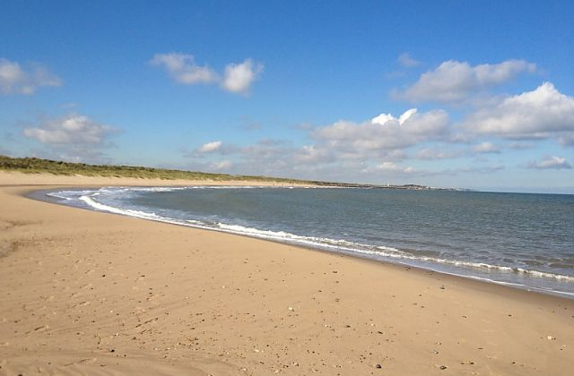 Sea Palling beach stretching beyond the eye can see