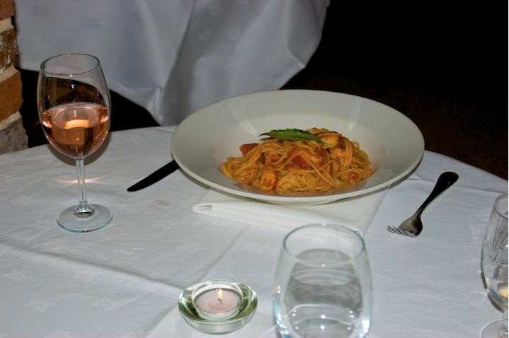 Fine dining at the Olive Tree
