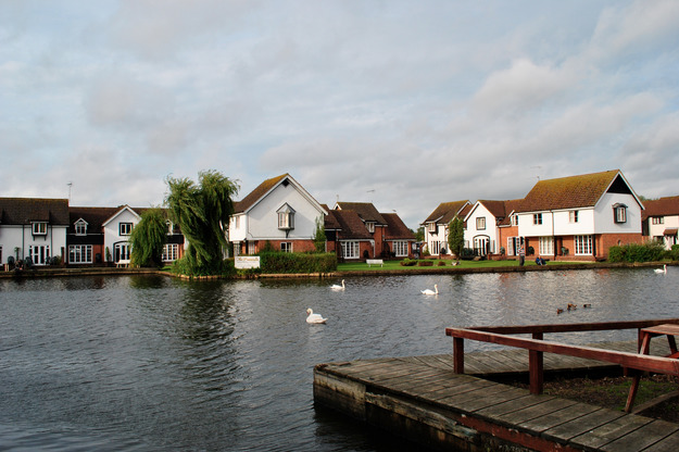 View from the beer garden at the Shed Wroxham