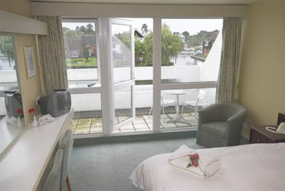 Riverside balcony on offer at The Wroxham