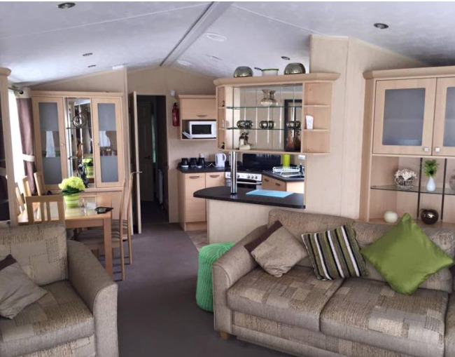 Sample lounge of Waters Retreat Caravans in Hopton