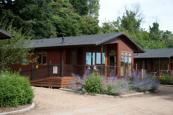 Holiday lodge at Waveney River Centre