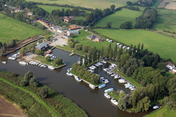 Waveney River Centre from the air