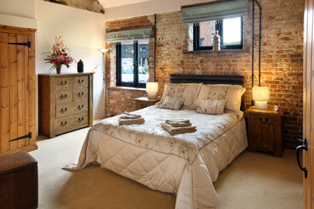 Bedroom at Wheatacre Hall Barns