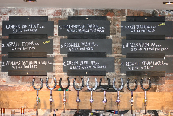 Selection of Craft Beers and Ales from the White Horse