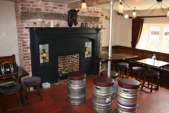 Traditional Fireplace at the White Horse