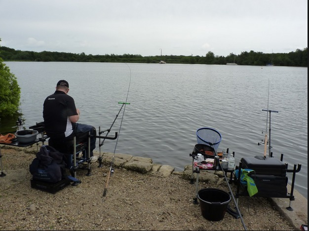 Fishing on the River in Wroxham, Norfolk Broads