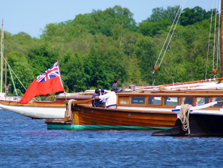 Wherries At Anchor On Barton Broad