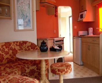 Living Area In Grasmere Static Van