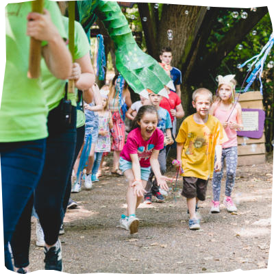 Bubble Party Parade at Bewilderwood