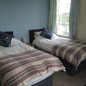 Twin room at The Old Vicarage B&B