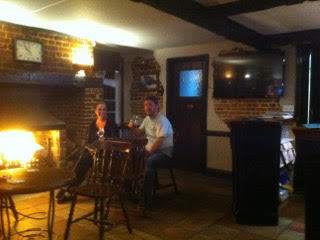 Log Fire At The Bell