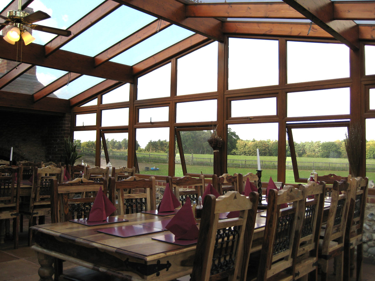 Conservatory at The Brick Kilns pub