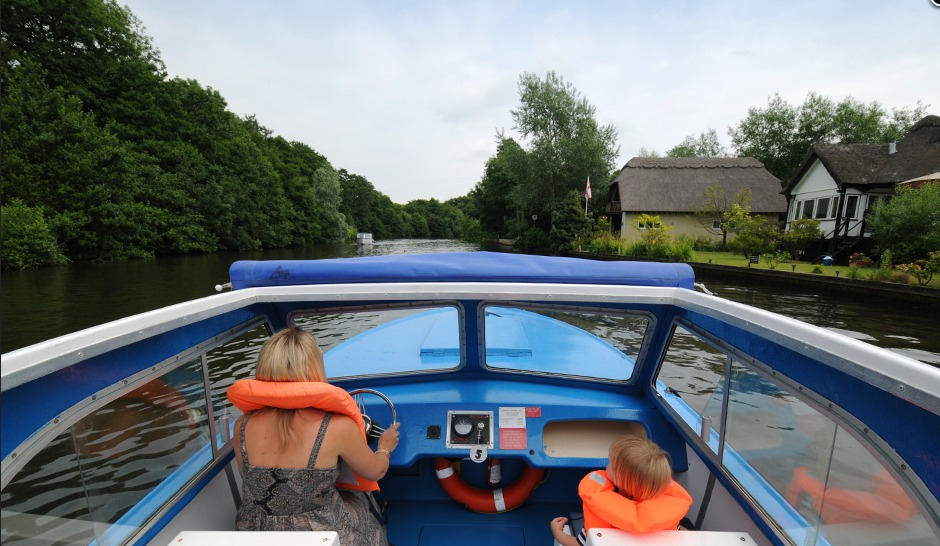 Enjoying a Broads Tours Day Boat