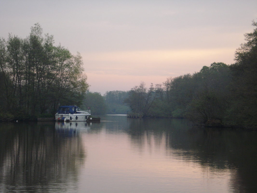 Dusk over Salhouse Broad