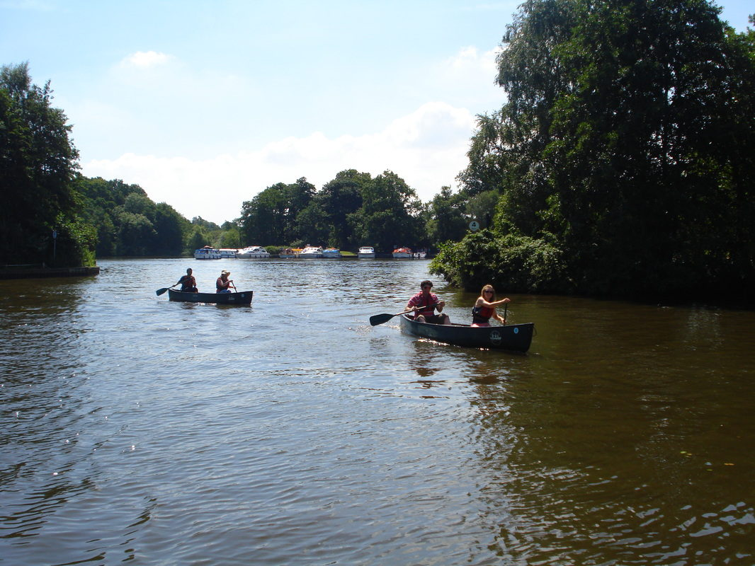 Canoeing on Salhouse Broad