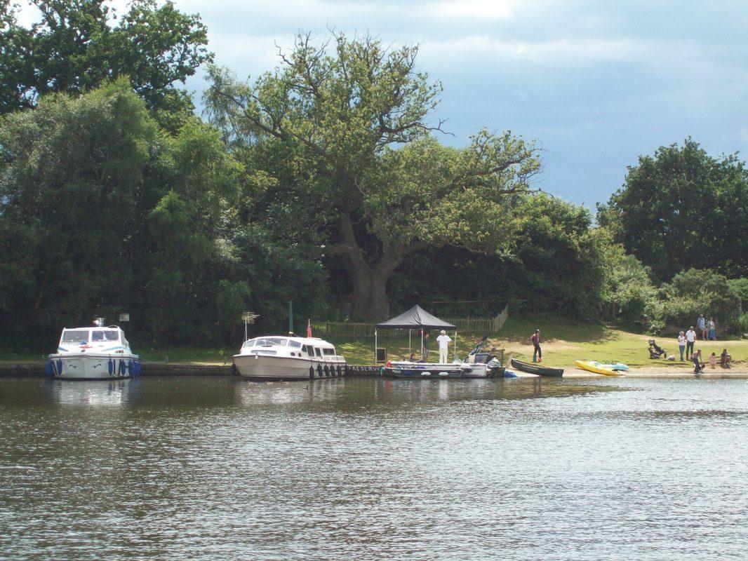 Boats moored at Salhouse Broad