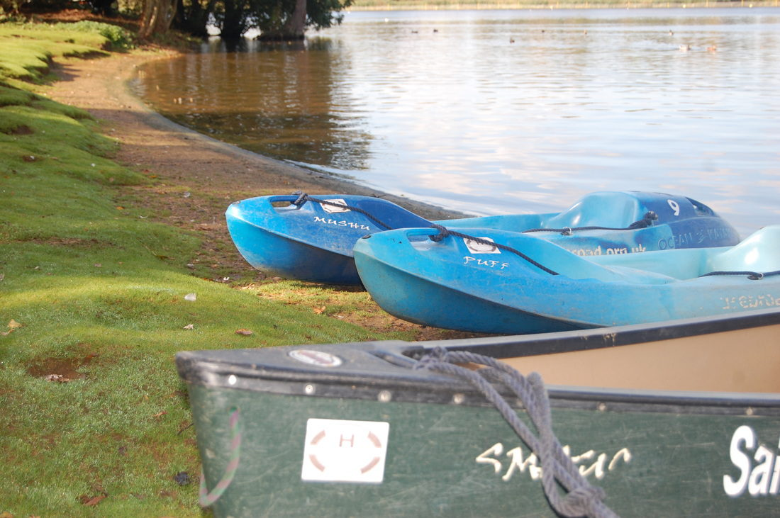 Canoes on Salhouse Broad