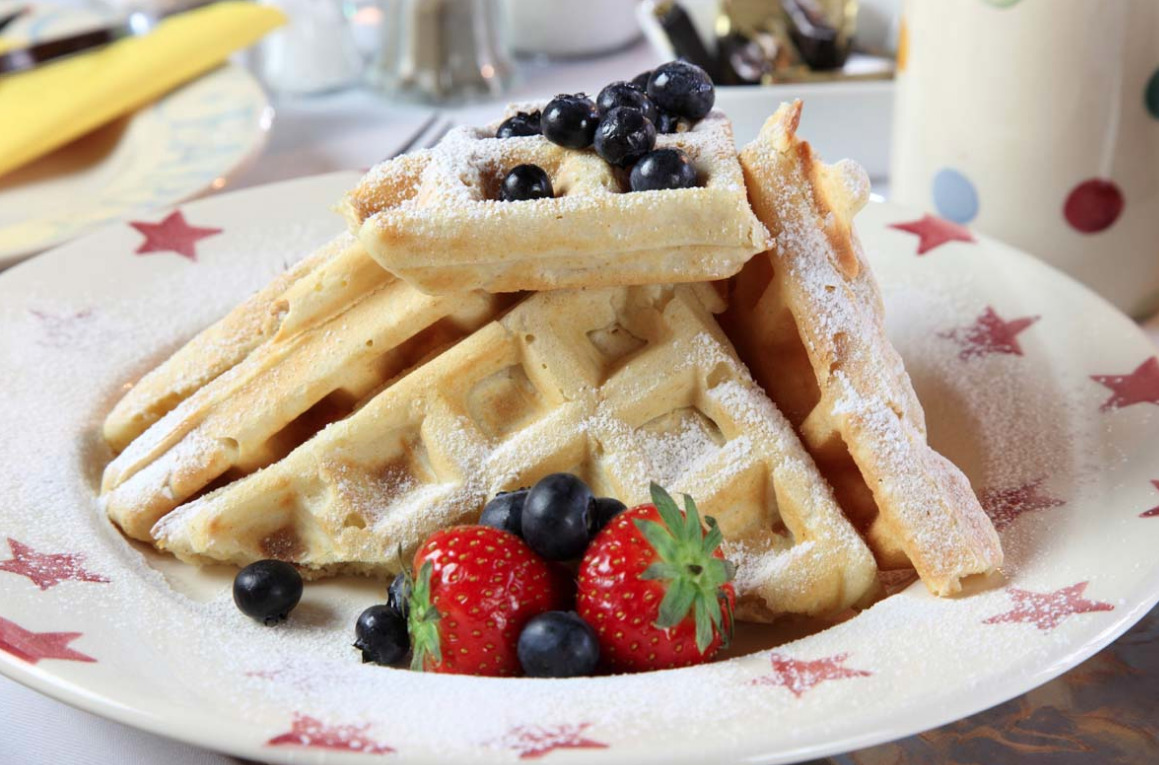 Waffles for Breakfast in Dairy barns