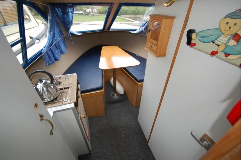 Picnic boat interior