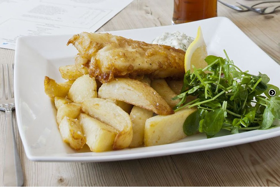 Fish and Chips at The Dukes Head Somerleyton