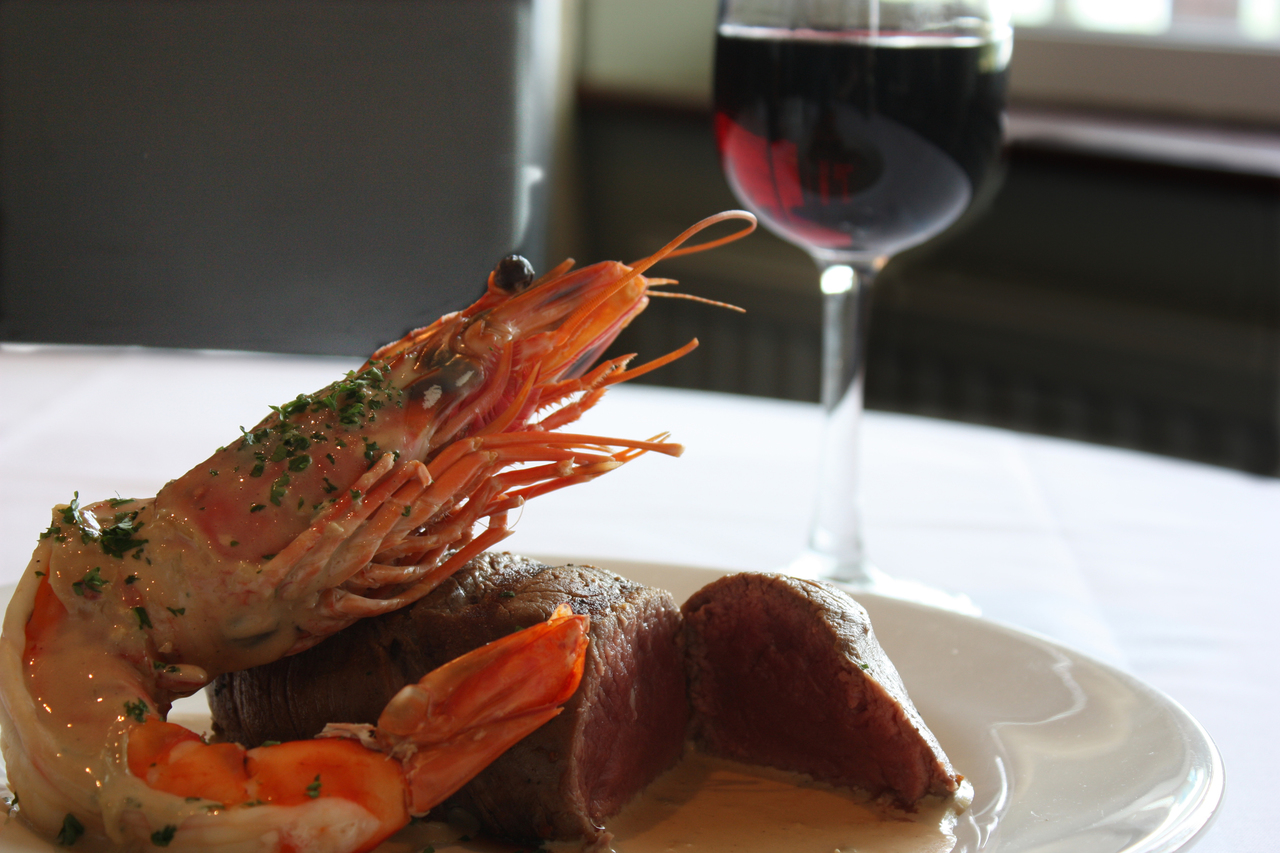 Surf and Turf served by Filby Bridge Restaurant