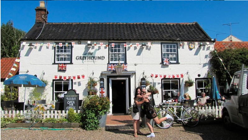 The Greyhound Inn in Hickling, Dressed Overall