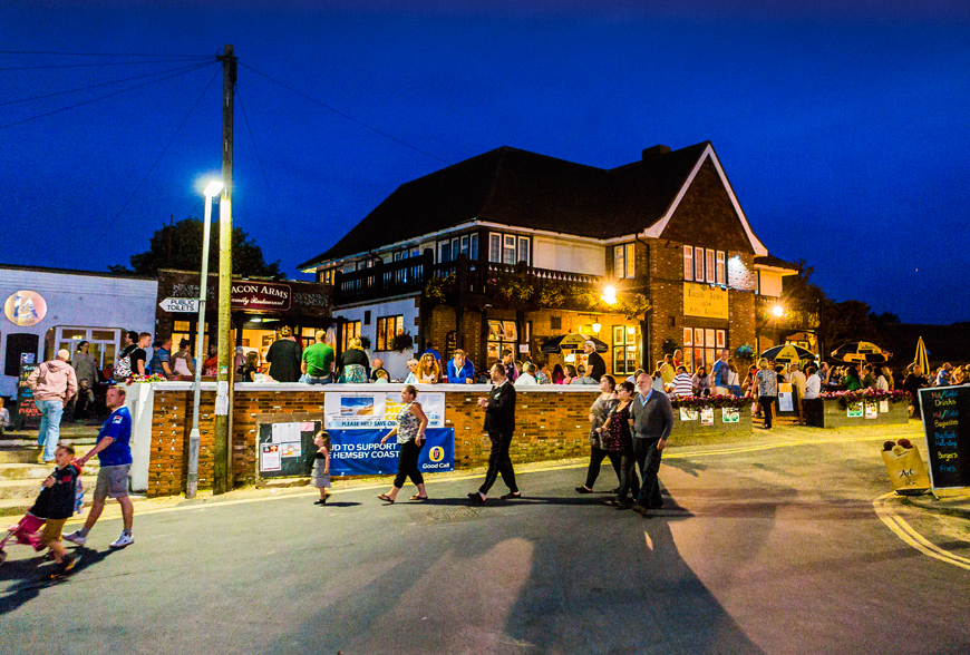 The Lacon Arms in Hemsby Nightview