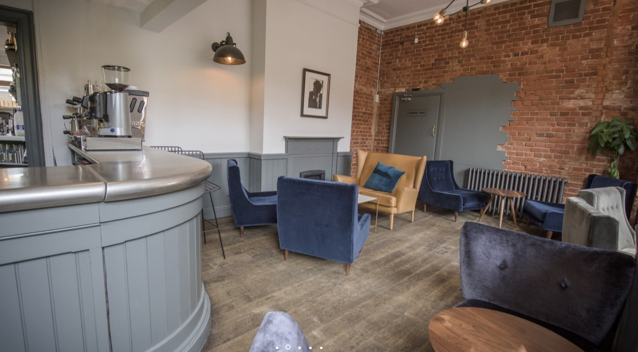 Comfortable seating within Warwick Street Social