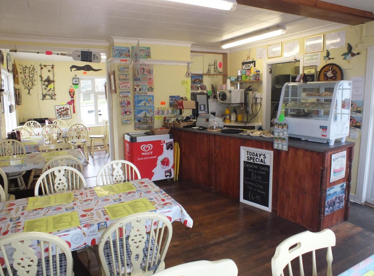 Cosy interior of Wayfarers Cafe