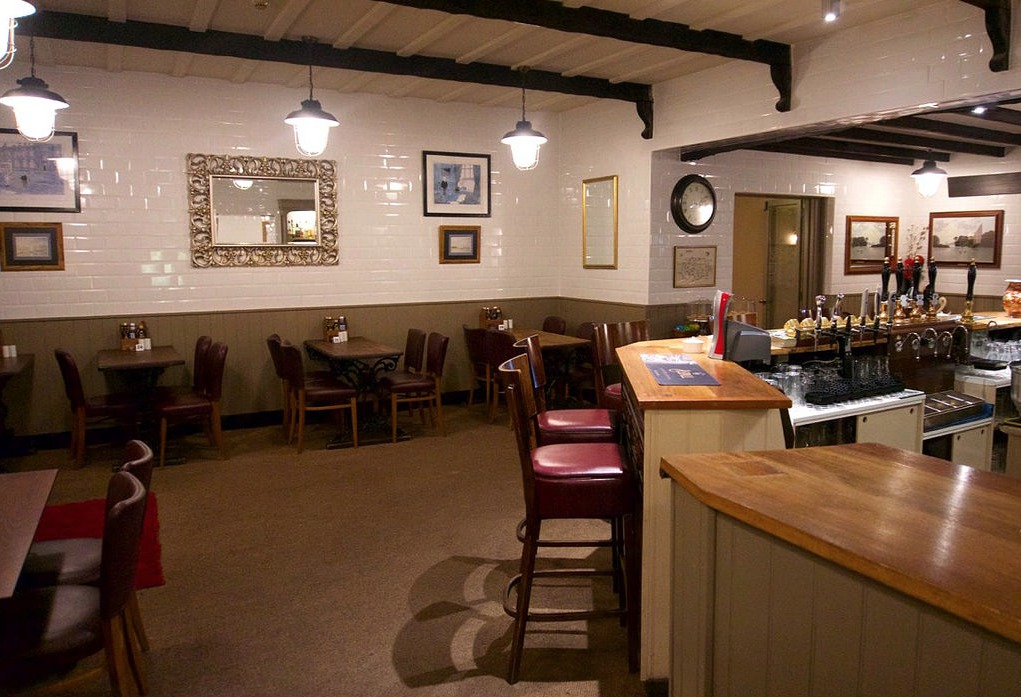 Bar seating area at Wayford Bridge Inn