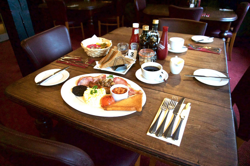 Sample of the Breakfasts at Wayford Bridge Inn
