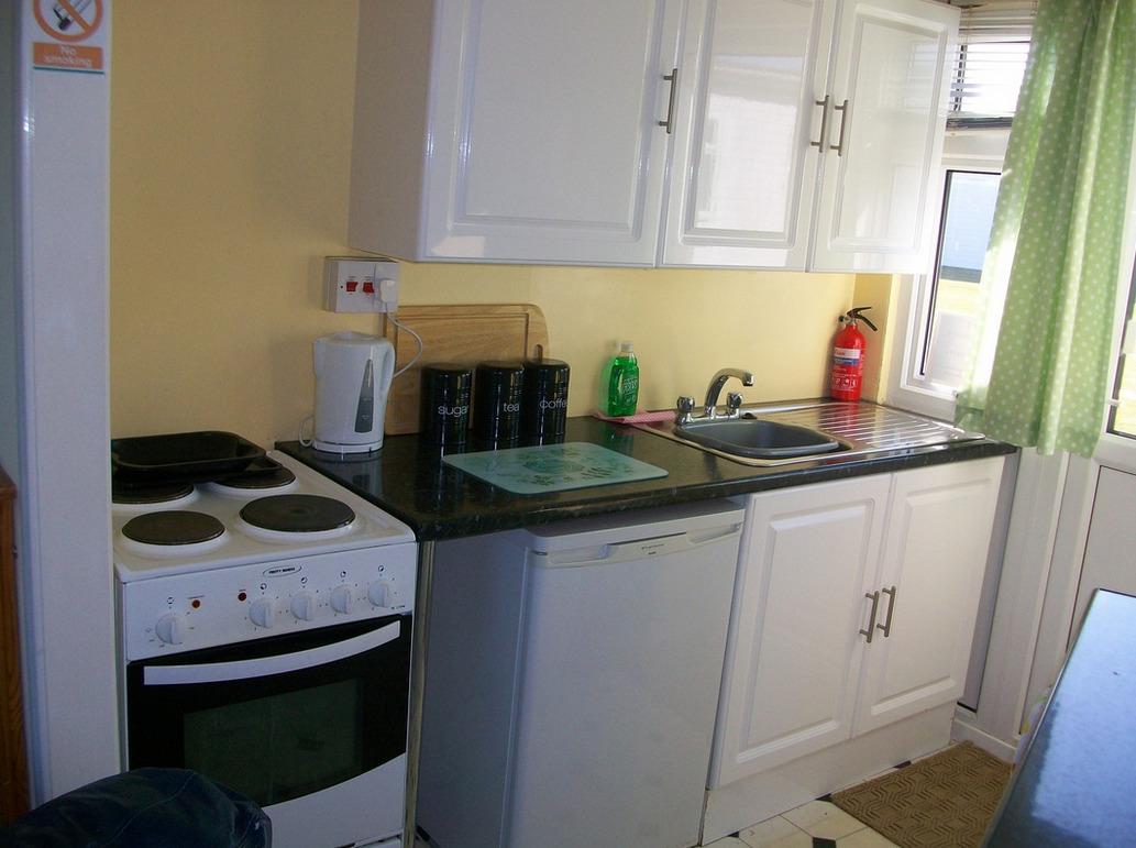 Sample of Kitchen at Winterton Chalets