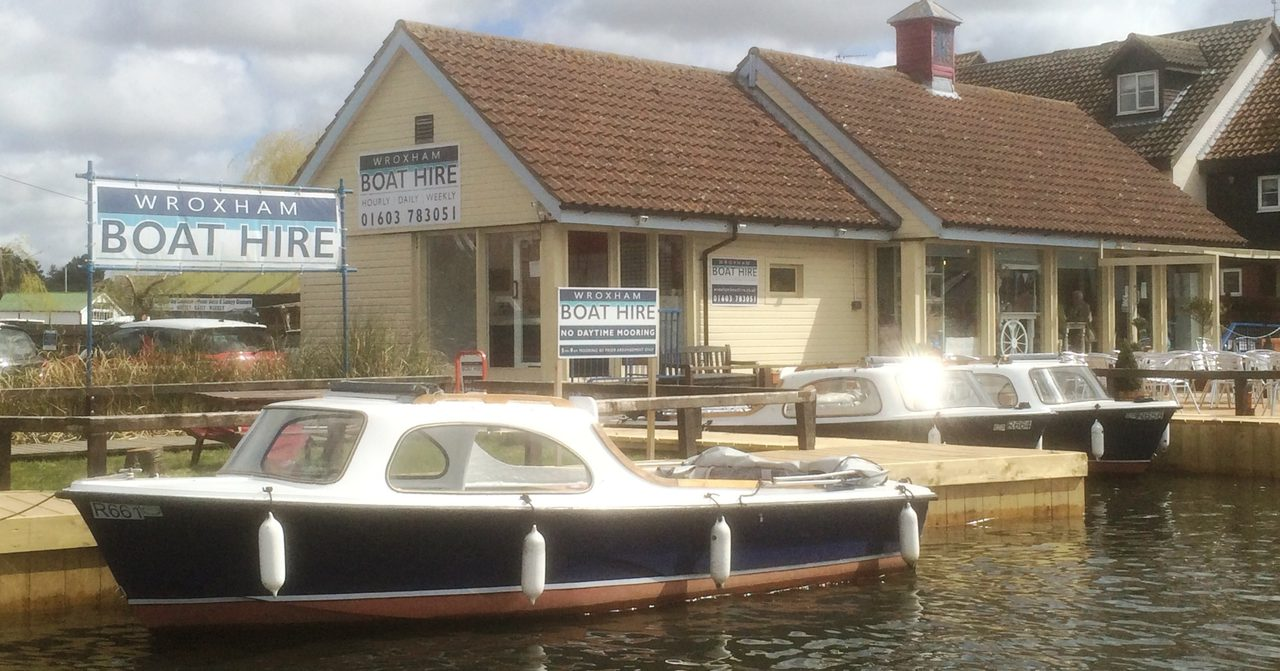 Wroxham Boat Hire, Norfolk Broads day boat