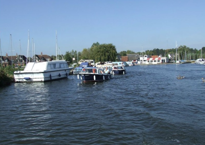 Wroxham Boat Hire day boats in Wroxham on the Norfolk Broads