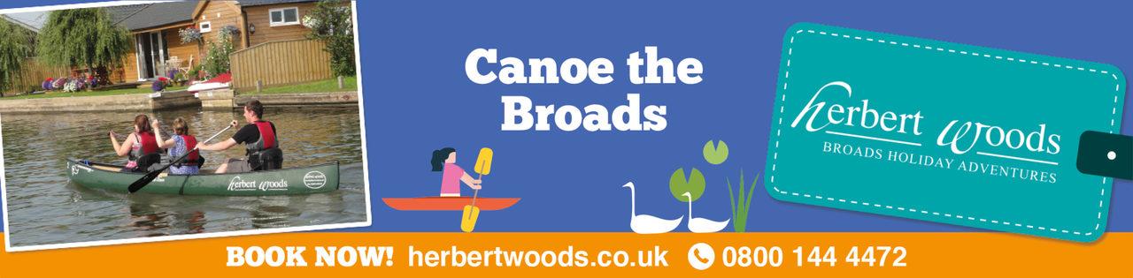 Herbert Woods Canoe The Broads 1140X281