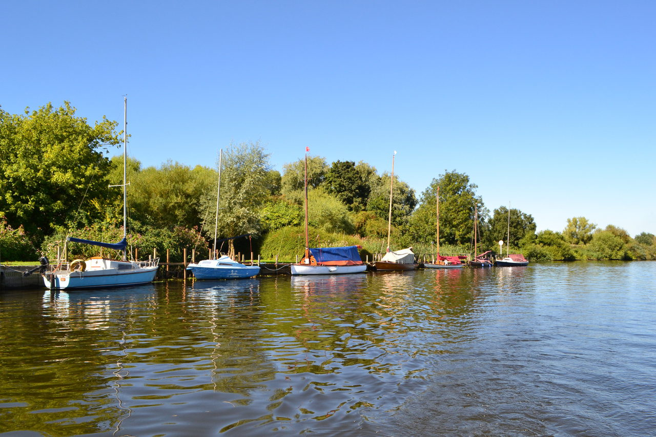 Moored Yachts At Brundall