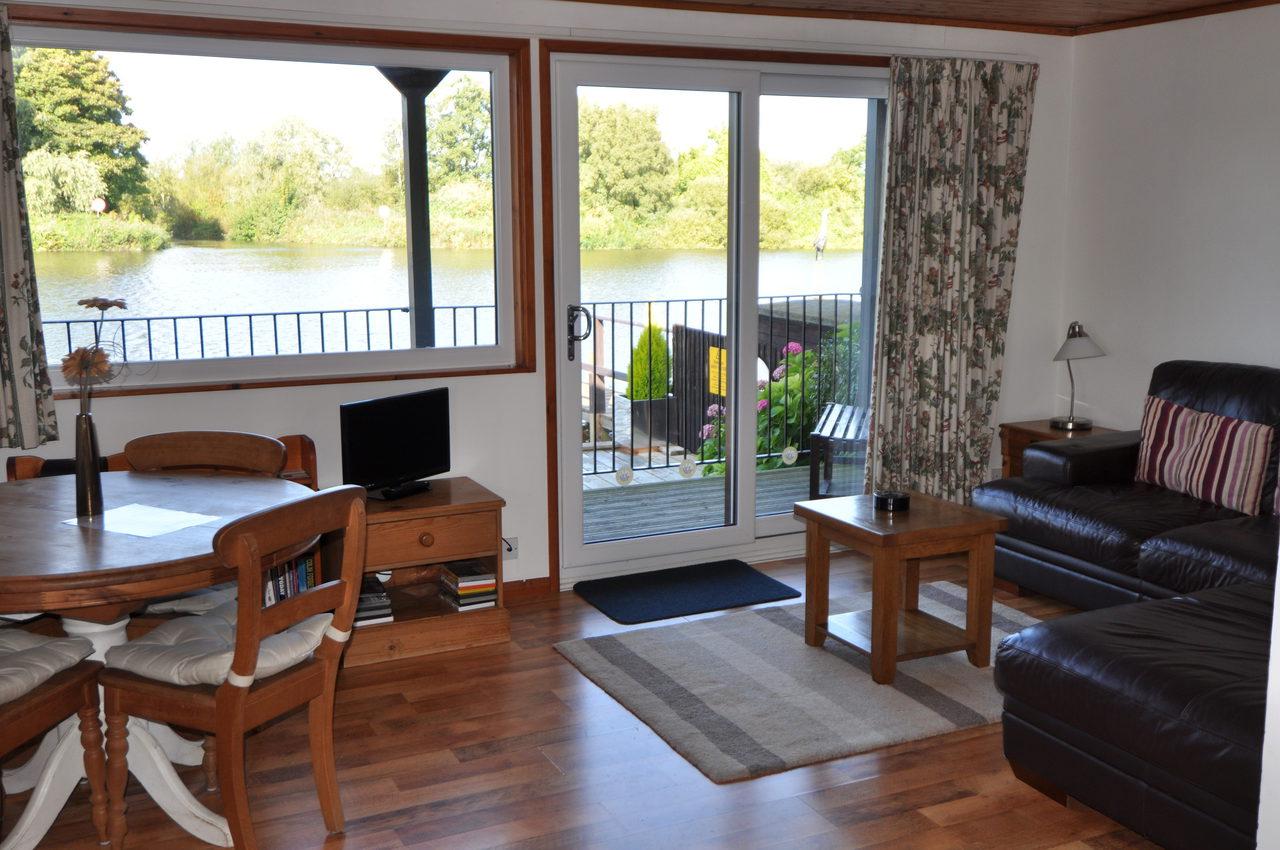 Deck and River Views at Moonshine Lodge