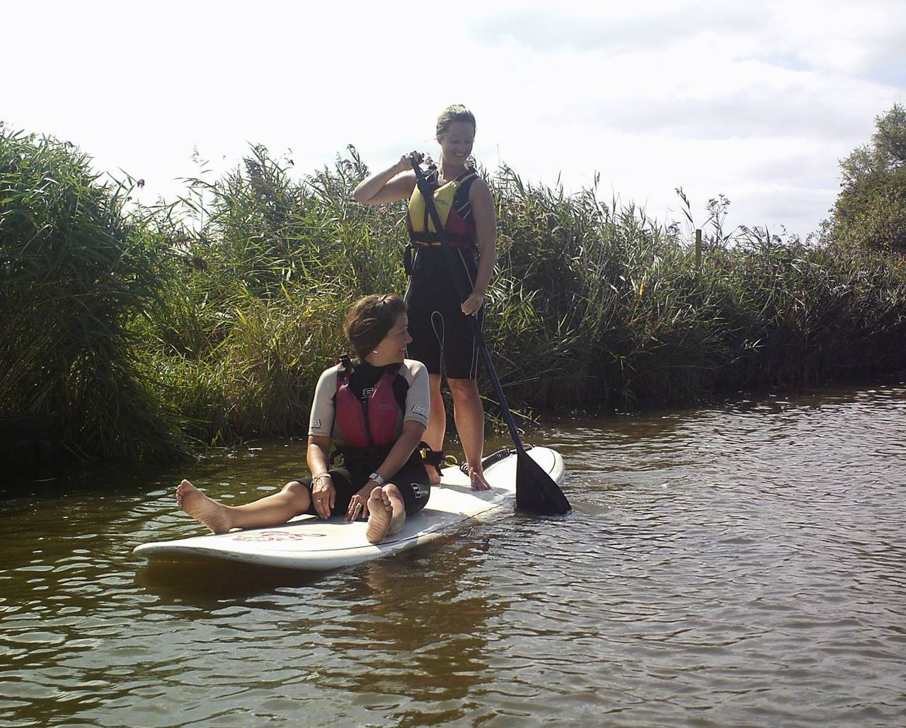 Paddleboarding at Martham Boats