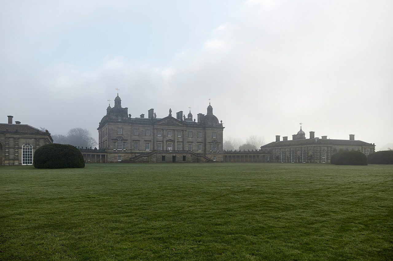 Houghton Hall In The Mist In Norfolk