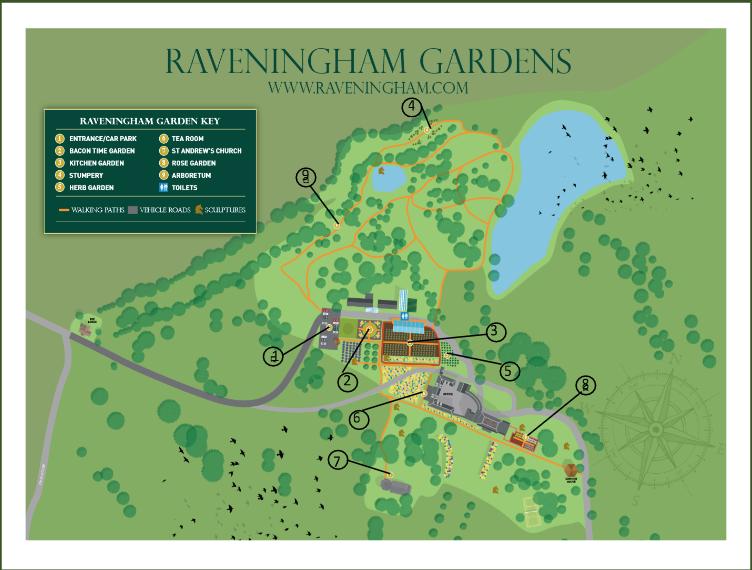 Raveningham Gardens Map
