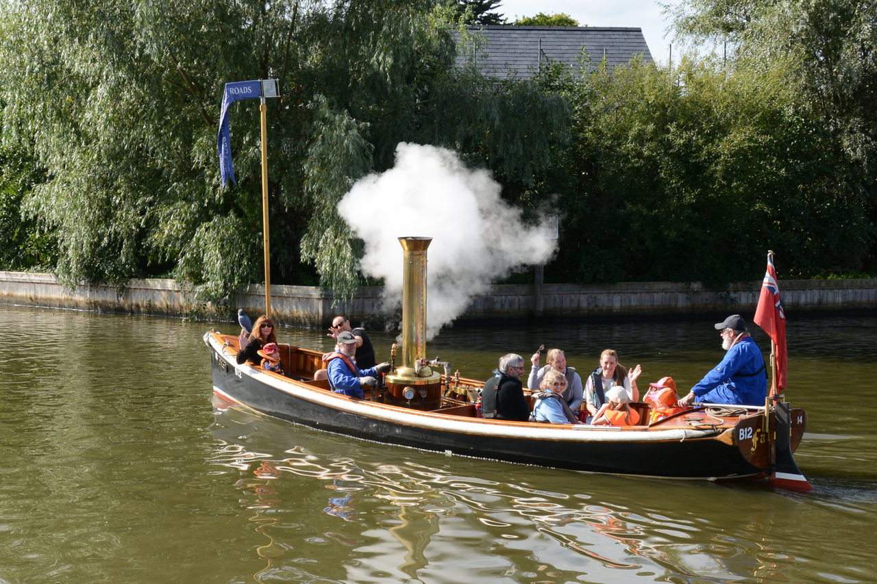 Enjoy a trip on our steam boat