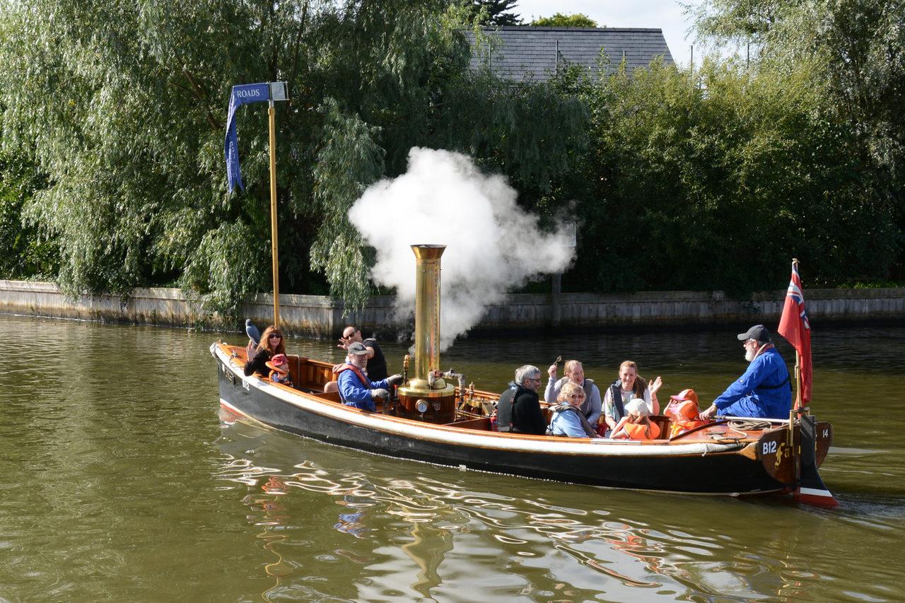 Enjoy a trip on our steam boat