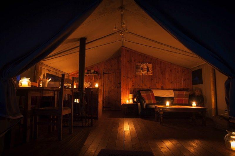 Safari Tent By Night