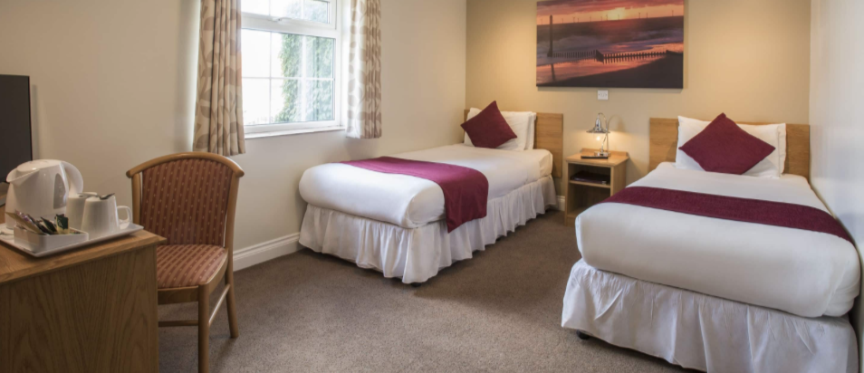 Twin Room At The Old Hall Hotel Caister