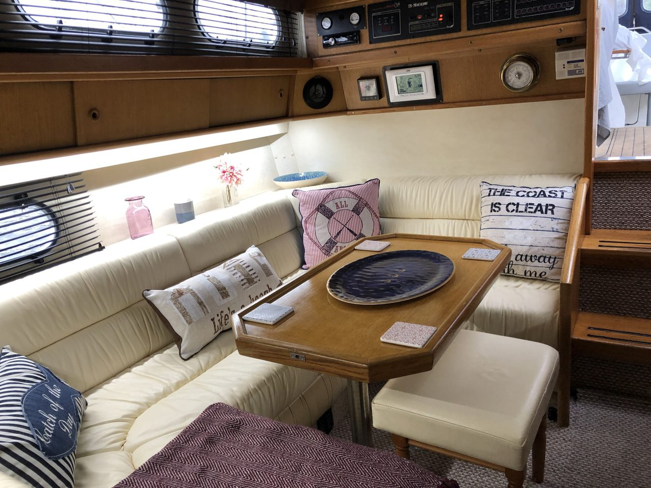 Comfortable Below Deck Seating